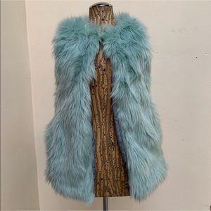 Xhilaration Fuzzy Faux Fur Vest Sweater Tank